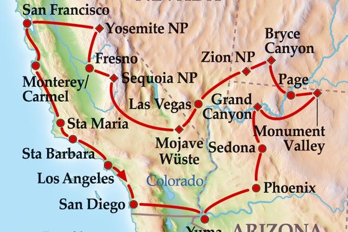 16 Tage Gruppenreise Grand Southwest