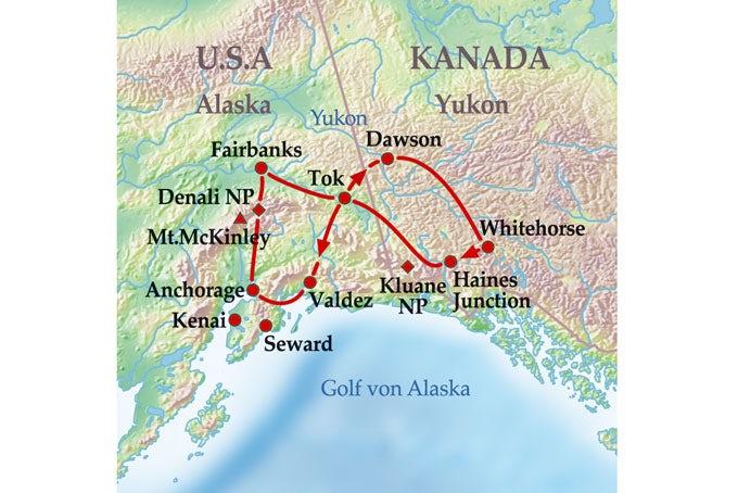 15 Tage Gruppenreise Best of Yukon & Alaska