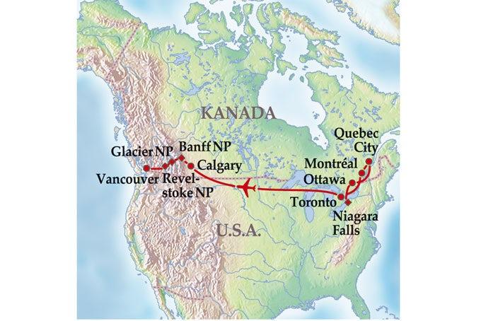 14 Tage Gruppenreise Glanzlichter Kanadas