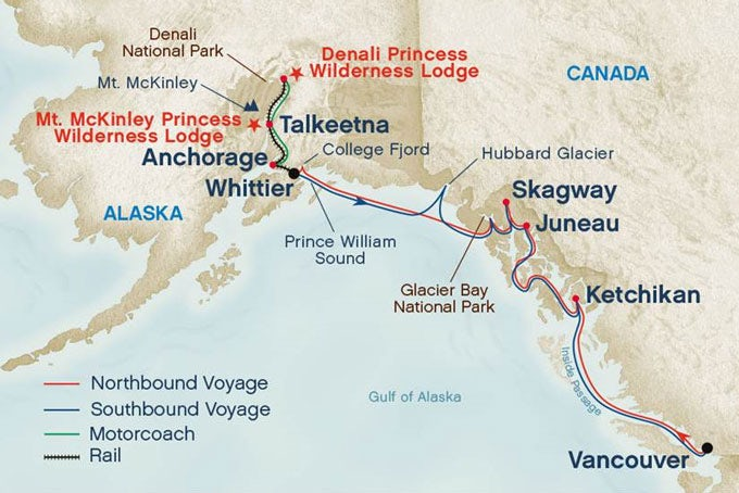 14 Tage Alaska Denali-Tour, Gletscherkreuzfahrt und Vancouver