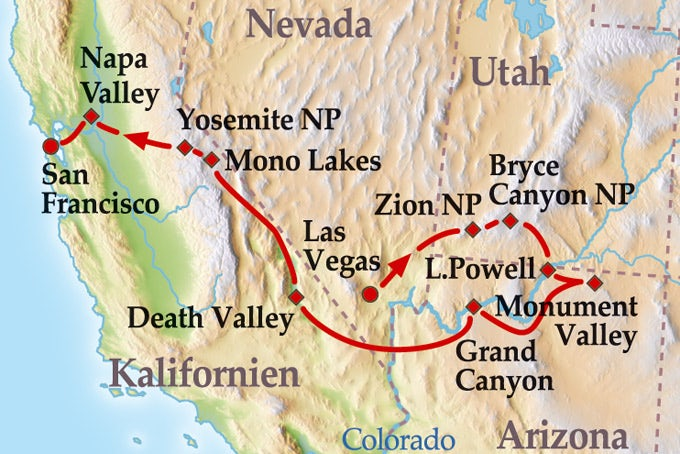 14 Tage Kleingruppenreise Entdeckungsreise in die Nationalparks des Westens