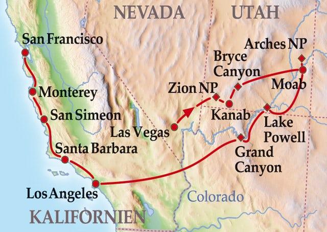 17 Tage Kleingruppenreise Den Südwesten entdecken mit Flug
