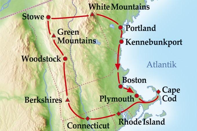 10 Tage Gruppenreise Farben Neuenglands