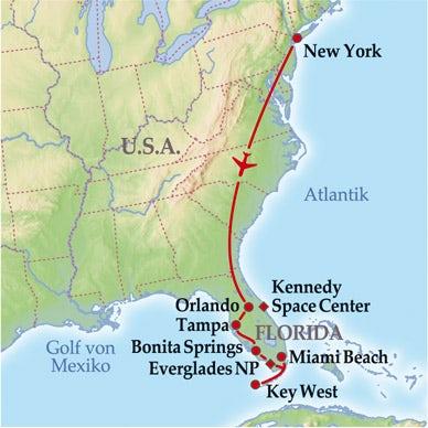 11 Tage Gruppenreise New York & Florida Sunshine