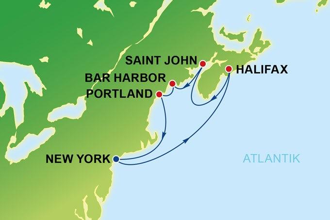 8 Tage Kanada & Neuengland ab/bis New York