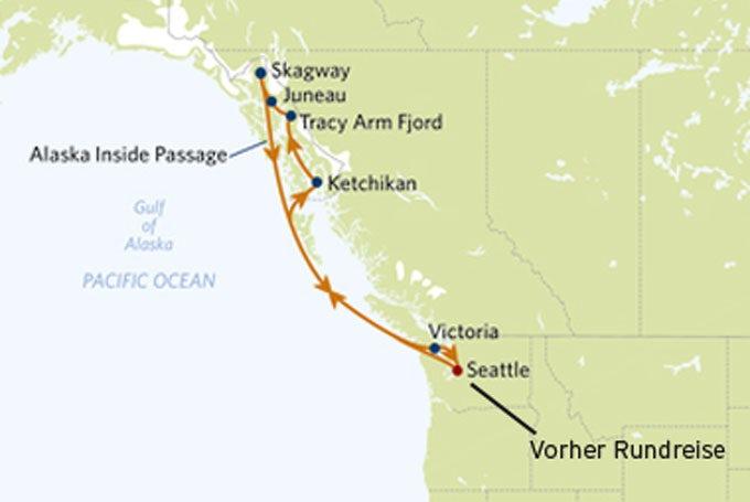13 Tage Washington State & Kreuzfahrt nach Alaska