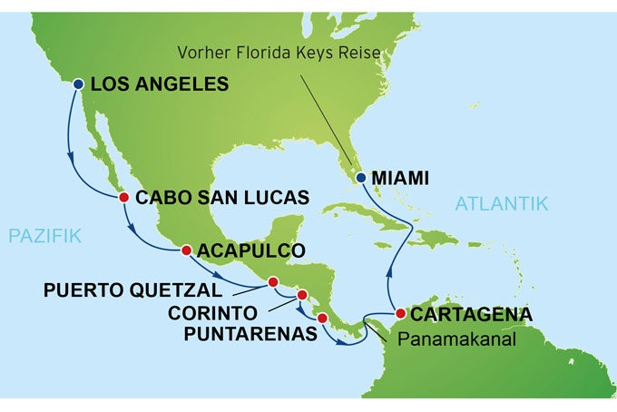20 Tage Florida Keys & Panamakanal bis nach Los Angeles