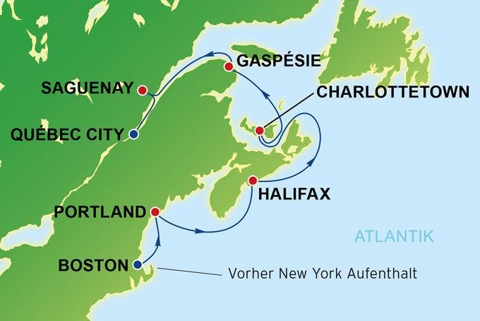 13 Tage New York, Boston und Kreuzfahrt nach Québec