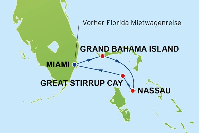 14 Tage Florida und Bahamas-Kreuzfahrt