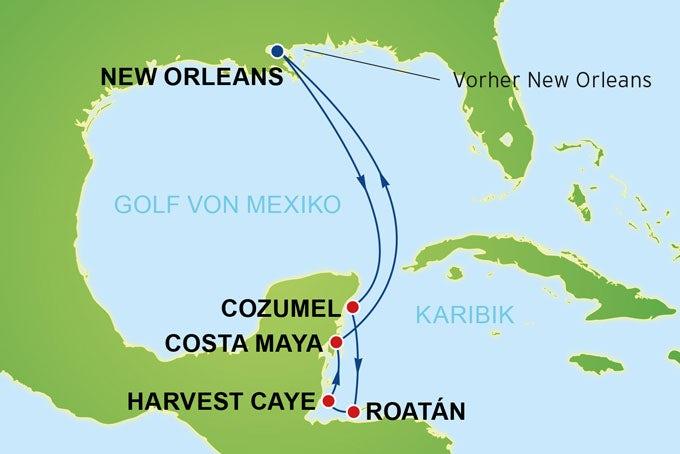 11 Tage New Orleans & Westliche Karibik