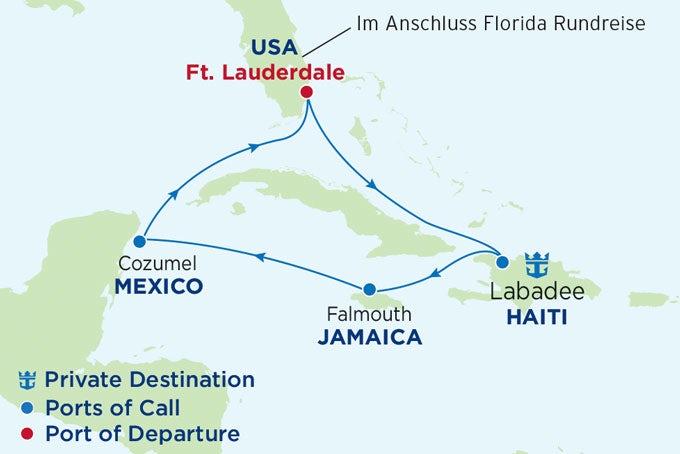 16 Tage Florida und westliche Karibik