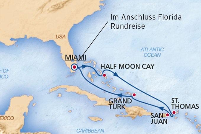 13 Tage Östliche Karibik und Südflorida
