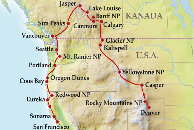 17 Tage Gruppenreise Pacific Northwest and Canadian Rockies