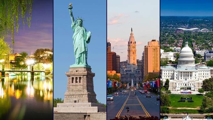 13 Tage Zugreise: Weltstädte im Nordosten der USA inkl. Flug