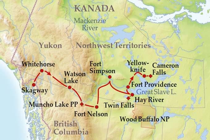 15 Tage Gruppenreise Discover Yukon & Northwest Territories
