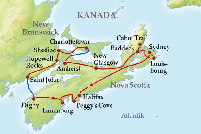 13 Tage Gruppenreise Maritimes Kanada Erleben