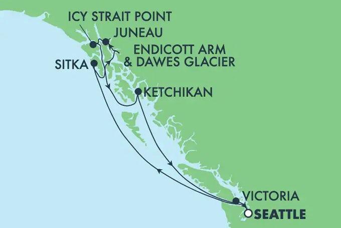 8 Tage Inside Passage Alaska mit Dawes-Gletscher, Juneau und Ketchikan